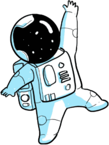Winkender Astronaut